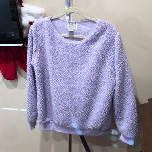 Lavender Fuzzy Sherpa Sweater